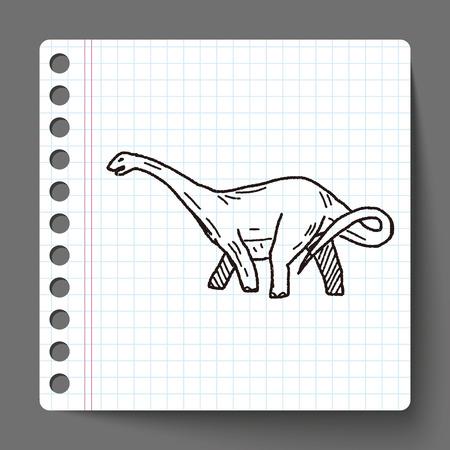 brontosaurus: Brontosaurus dinosaur doodle