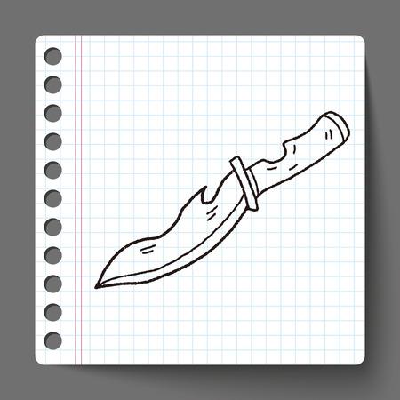 knife doodle Vector