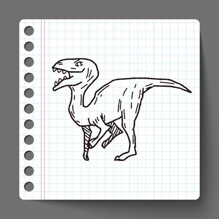 dinosaur doodle Vector