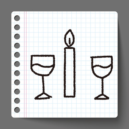 candlelight: doodle candlelight dinner