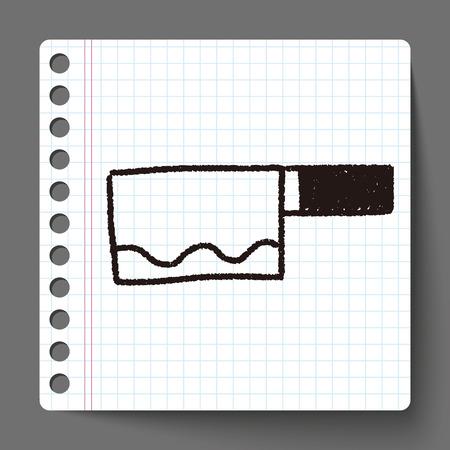 kitchen knife: Kitchen knife doodle drawing