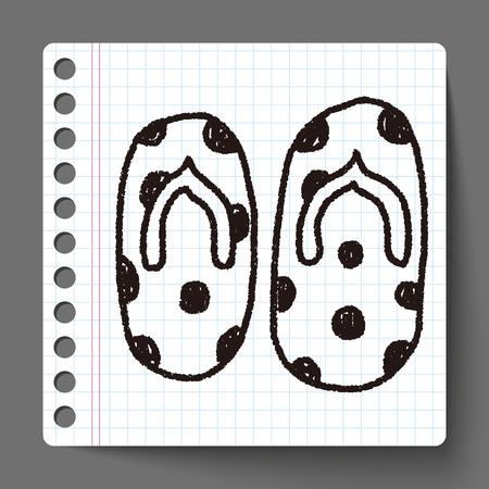 flip flop: flip flop doodle drawing
