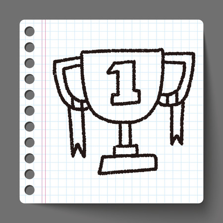 doodle champion cup Vector