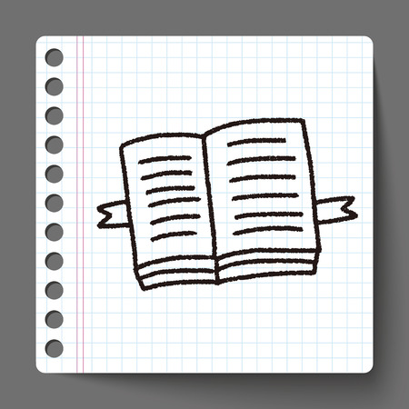open magazine: doodle open book