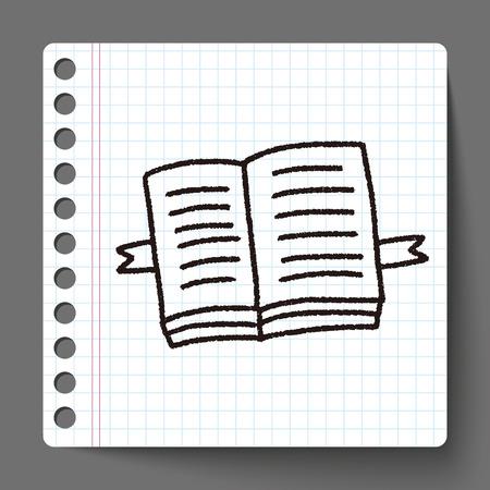 open agenda: garabatear libro abierto
