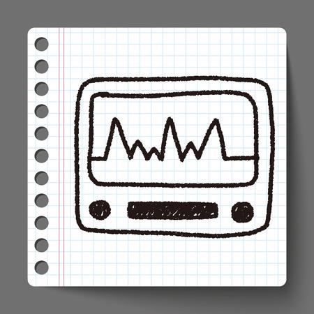 ecg: ECG doodle drawing