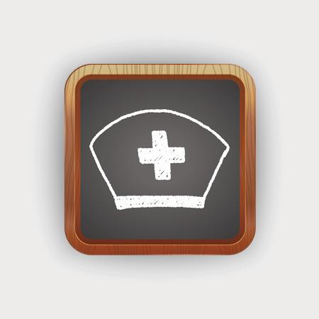 nurse hat: nurse hat doodle drawing Illustration