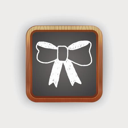ribbon: Ribbon bow doodle drawing