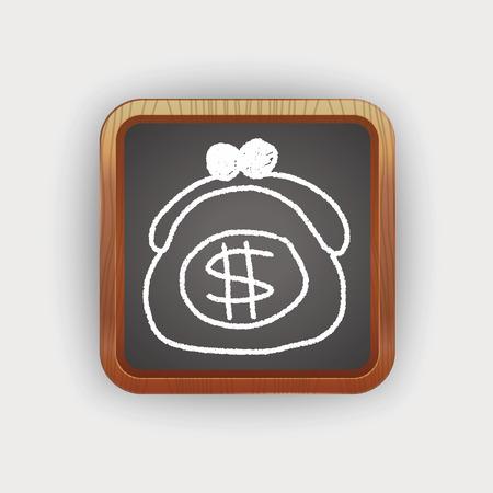 purse: purse doodle drawing