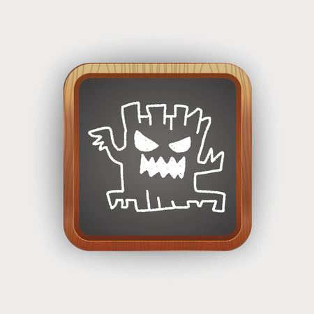 halloween tree: halloween tree doodle drawing