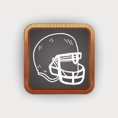 protection gear: Doodle Football  Helmet