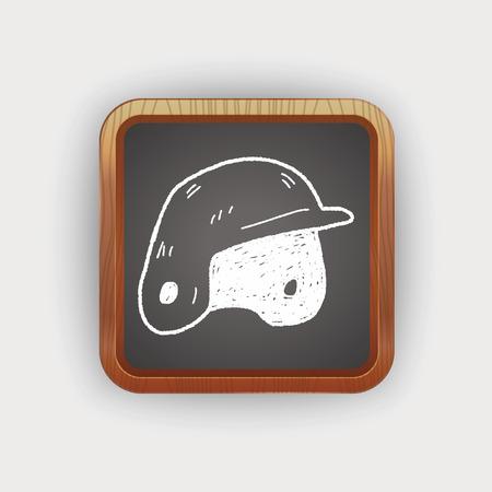 baseball helmet doodle