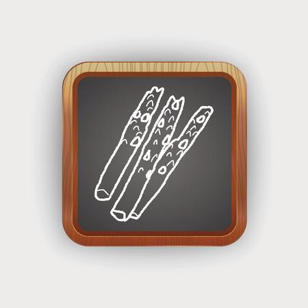 asparagus: asparagus doodle