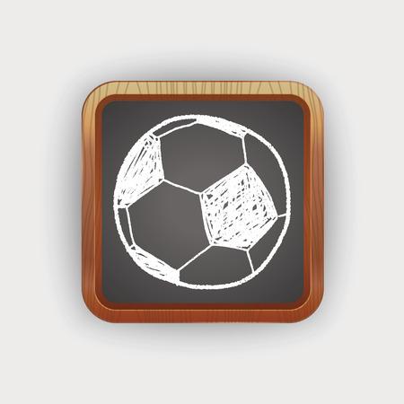 to soccer: Doodle soccer Illustration