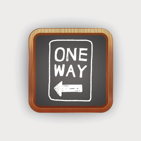 one way sign: one way sign doodle