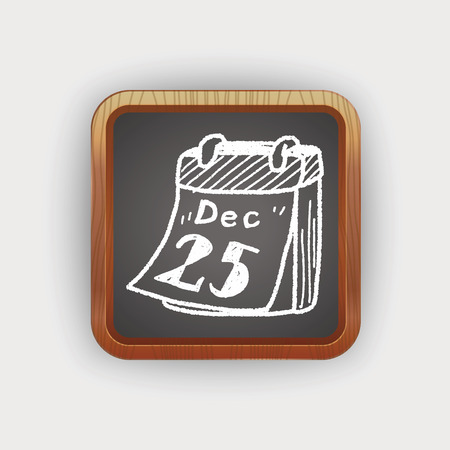 december: December calendar doodle