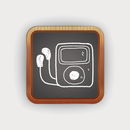 mp3: mp3 player doodle