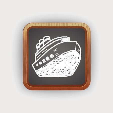 doodle boat 向量圖像