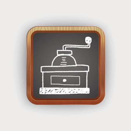 macinino caffè: macinacaff� Doodle Vettoriali