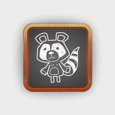 raccoon: raccoon doodle