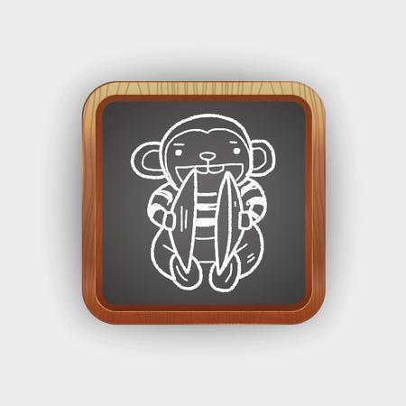 cymbals: monkey toy doodle Illustration
