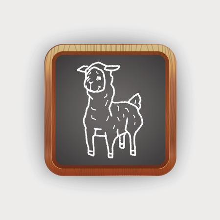 llama: llama doodle