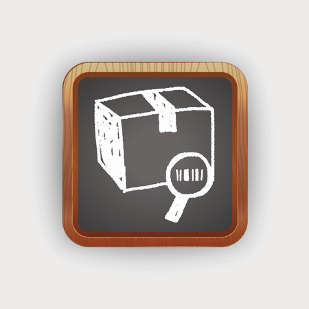 shipment tracking: shipping box doodle