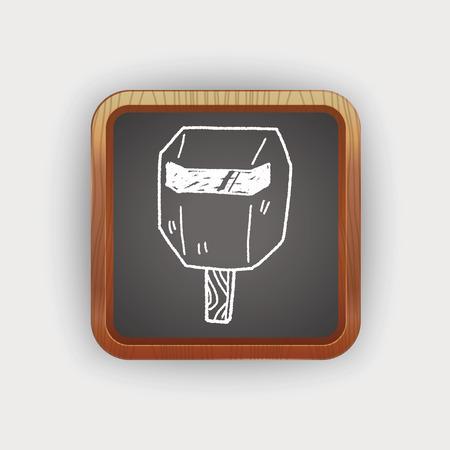 welding mask: welding mask  doodle