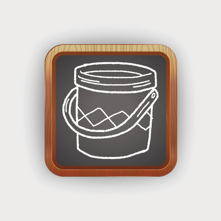 paint bucket: paint bucket doodle