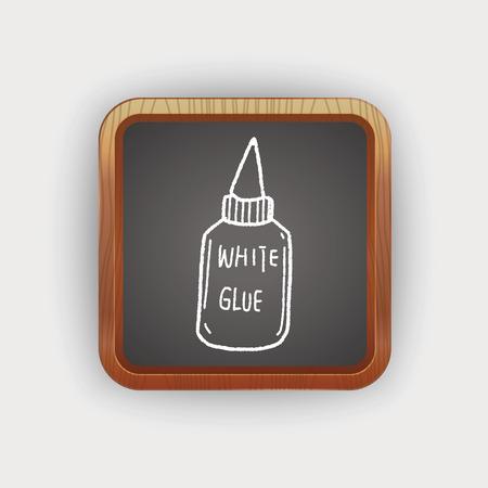 pegamento: pegamento del doodle