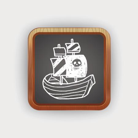 pirate ship doodle