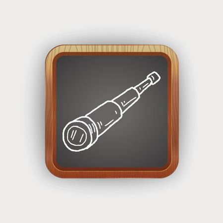 antique binoculars: telescope doodle