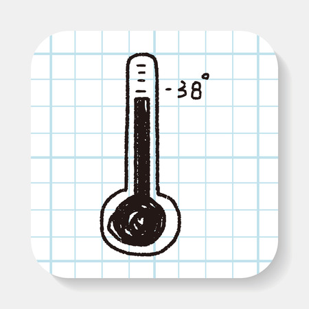 thermometer: thermometer doodle Illustration