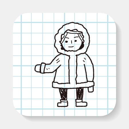 stereotype: Eskimos doodle