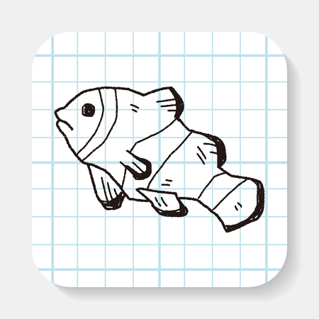 anemonefish: Clownfish doodle Illustration
