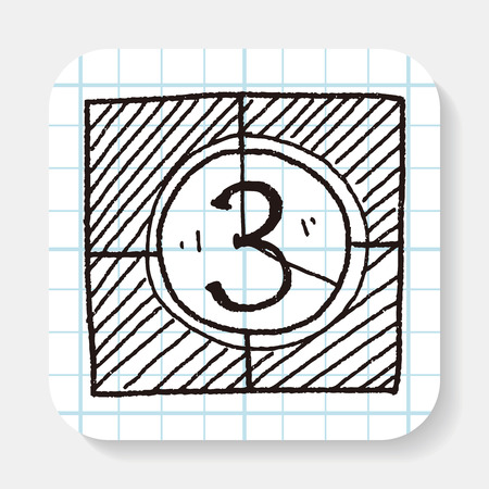 contagem regressiva: film countdown doodle