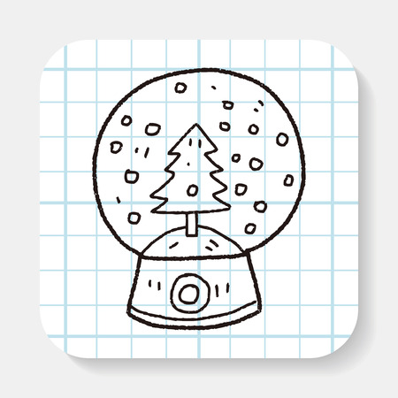 snow ball: snow ball doodle Illustration