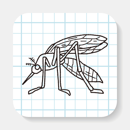 blood sucker: mosquito doodle Illustration