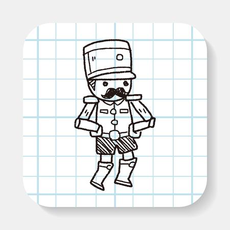 soldiers: Toy Soldiers doodle Illustration