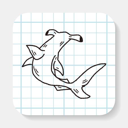 hammerhead: Hammerhead shark doodle