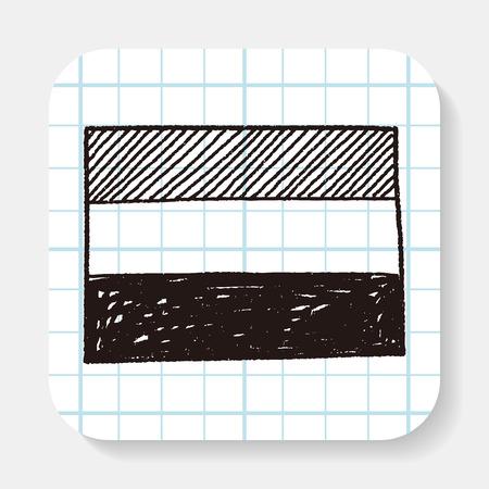 netherlands flag: netherlands flag doodle