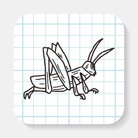 locust: grasshopper doodle