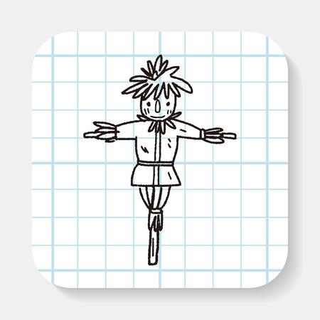 espantapájaros: doodle del espantapájaros