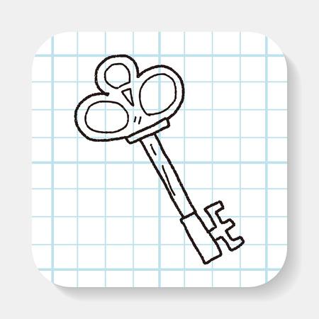 oude sleutel: old key doodle