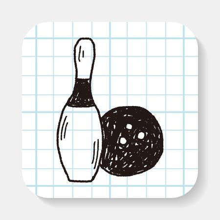 creative shot: Bowling doodle Illustration