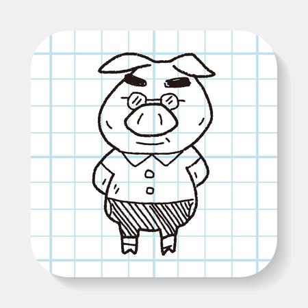 3 little pigs: three little pigs doodle