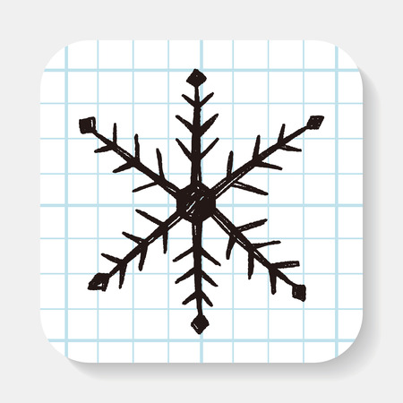 snowflake snow: snowflake doodle