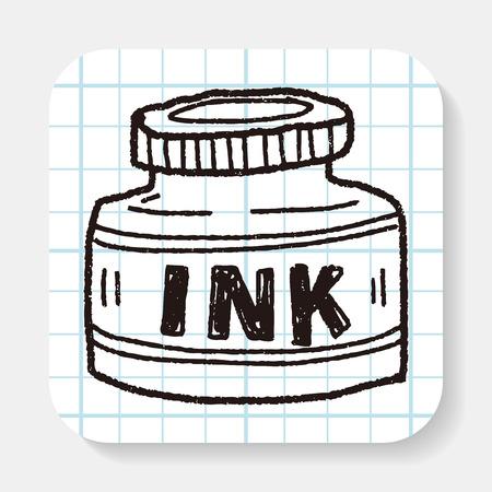 ink sketch: ink doodle Illustration