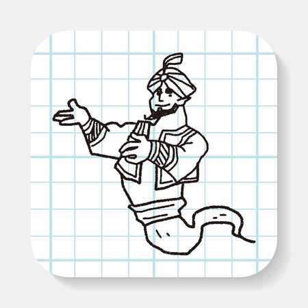 aladdin: aladdin doodle Illustration