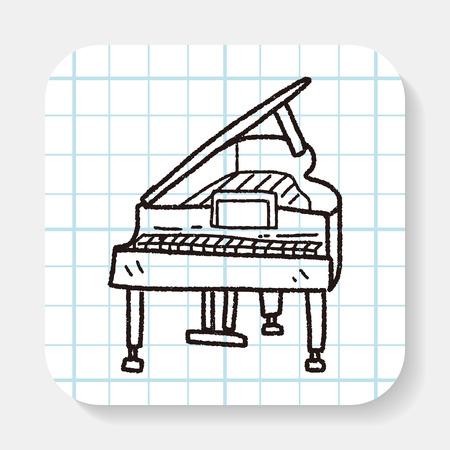 piano: Doodle de piano Vectores